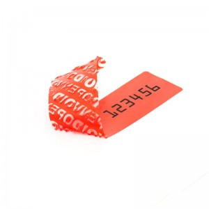 New Generation 100x20 mm sealing label - Red